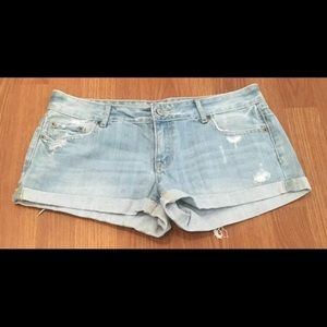 Aeropostale Shorts Distressed Cuffed Hem Cotton
